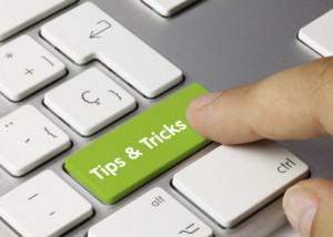 Tips & Tricks keyboard key. Finger