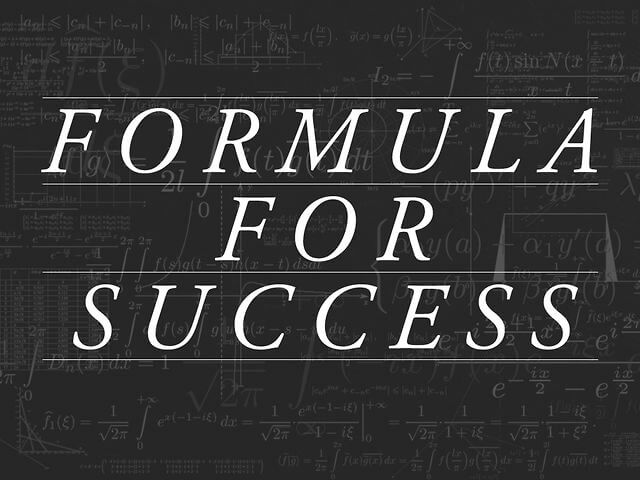 The Real Formula For Success