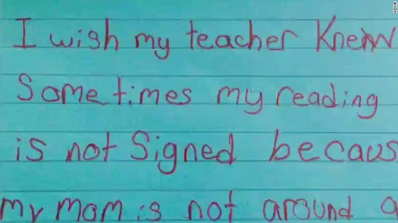 I Wish My Teacher Knew: The 3rd Grade Assignment That Went Viral